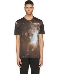 Lad Musician | Green And Black Nebula Print T_Shirt | Lyst