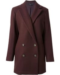 Theory 'Nest' Double Breasted Coat - Lyst
