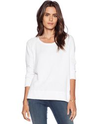 James Perse Classic Long Sleeve Raglan Sweatshirt - Lyst