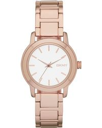 DKNY Womens Tompkins Rose Gold Ion-plated Bracelet Watch 32mm - Lyst