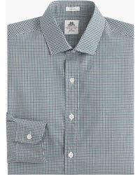 Thomas Mason | green Ludlow Shirt In Red Gingham | Lyst