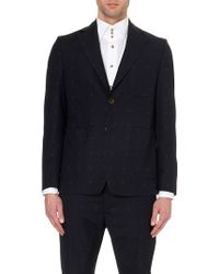 Vivienne Westwood Startooth-Embroidered Suit Jacket - For Men, Navy blue - Lyst
