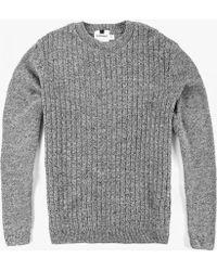 Topman | Cable Twist Sweater | Lyst