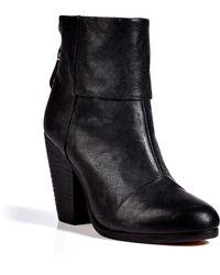 Rag & Bone Black Leather Classic Newbury Boots - Lyst