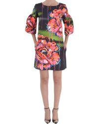 Marcobologna Flower-Print-Mini-Dress - Lyst