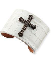 Katie Design Jewelry - Black Crown The Cross Alligator Cuff - Lyst