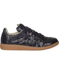 Maison Martin Margiela Black Glitter Sneakers - Lyst