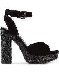 Bottega Veneta Intrecciato Sandals - Lyst