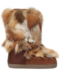 DSquared² | Fox Fur & Suede Snow Boots | Lyst