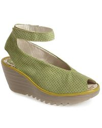 Fly London 'Yala' Perforated Leather Sandal - Lyst