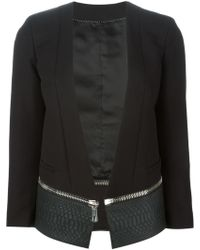 Neil Barrett Cropped Zip Away Blazer - Lyst