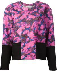 Thakoon Addition - Panelled Floral Print Sweatshirt - Lyst