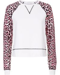 Juicy Couture Leopard Print Long Sleeve Sweater - Lyst