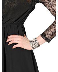 Blugirl Blumarine - Crystal Embellished Brass Bracelet - Lyst