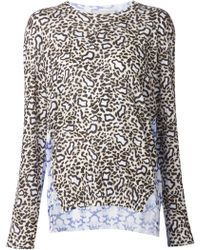 Stella McCartney Colorblock Leopard Sweater - Lyst