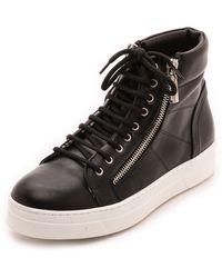 Studio Pollini - Zip Sneakers Black - Lyst