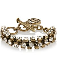 Giles & Brother Brass Crystal Bracelet - Lyst