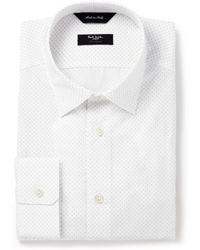 Paul Smith White Byard Pin-dot Cotton Shirt - Lyst
