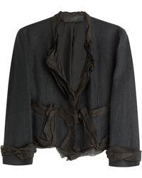 Donna Karan New York Cropped Linen Jacket - Lyst