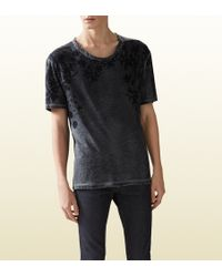 Gucci Cotton Jersey T-shirt with Flora Print - Lyst
