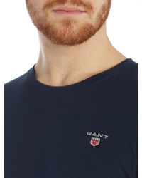 GANT - Check Pant And Crew Neck T-shirt Gift Set - Lyst