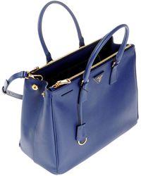 prada blue and white bag