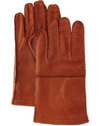 Portolano Cashmere-lined Leather Gloves - Lyst