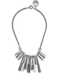 Giles & Brother - Silver-plated Crystal Necklace - Lyst