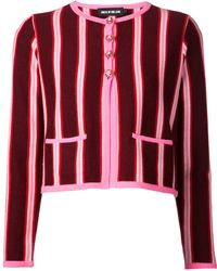 House Of Holland Knit Stripe Cardigan Jacket - Lyst