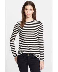 Proenza Schouler Stripe Tissue Jersey Shirt - Lyst