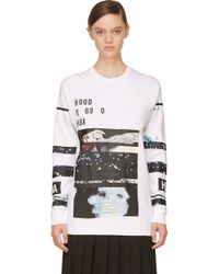 Hood By Air White Layered Graphic T-Shirt - Lyst