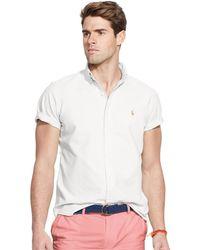Polo Ralph Lauren Short-Sleeved Oxford Shirt - Lyst