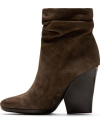 Burberry Prorsum - Clay Grey Suede Slouchy Ankle Boots - Lyst