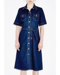 MiH Jeans 70S Denim Dress blue - Lyst