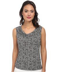 Calvin Klein Sleeveless Print Cowl Neck Top - Lyst