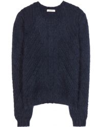 Nina Ricci Blue Angorablend Sweater - Lyst