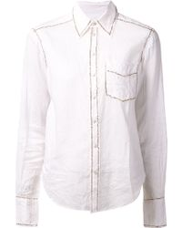 Dosa Gold Outline Shirt - Lyst
