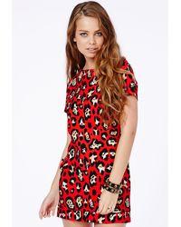Missguided Rocio Leopard Shift Dress - Lyst