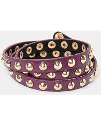 Violeta by Mango - Stud Triple Metal Bracelet - Lyst