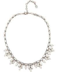Ben Amun Crystal Petal Necklace - Clear - Lyst
