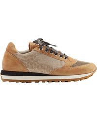 Brunello Cucinelli Suede Detailed Sneakers - Lyst