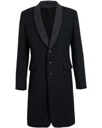 Ann Demeulemeester Wool Blend Tweed Coat - Lyst