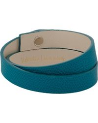 Valextra Leather Wrap Bracelet - Lyst
