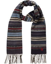 Original Penguin - Fair Isle Merino Wool Scarf - Lyst