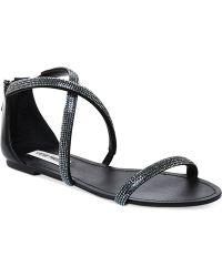 Steve Madden Zsaza Bling Flat Sandals - Lyst