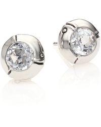 John Hardy | Bamboo Sterling Silver Stud Earrings | Lyst
