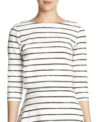 Elizabeth And James Jayren Striped Cropped Top - Lyst