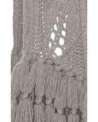 Lela Rose - Illusion Leaf Knit Scarf - Lyst