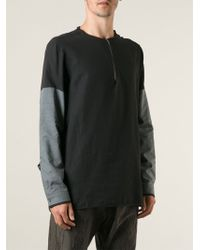 Damir Doma Zip Up Collarless Shirt - Lyst