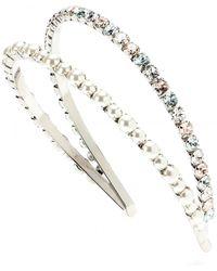 Miu Miu Embellished Double Hairband - Lyst